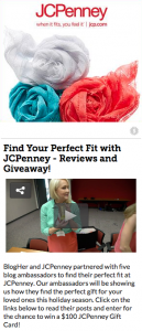 JCPenney BlogHer program